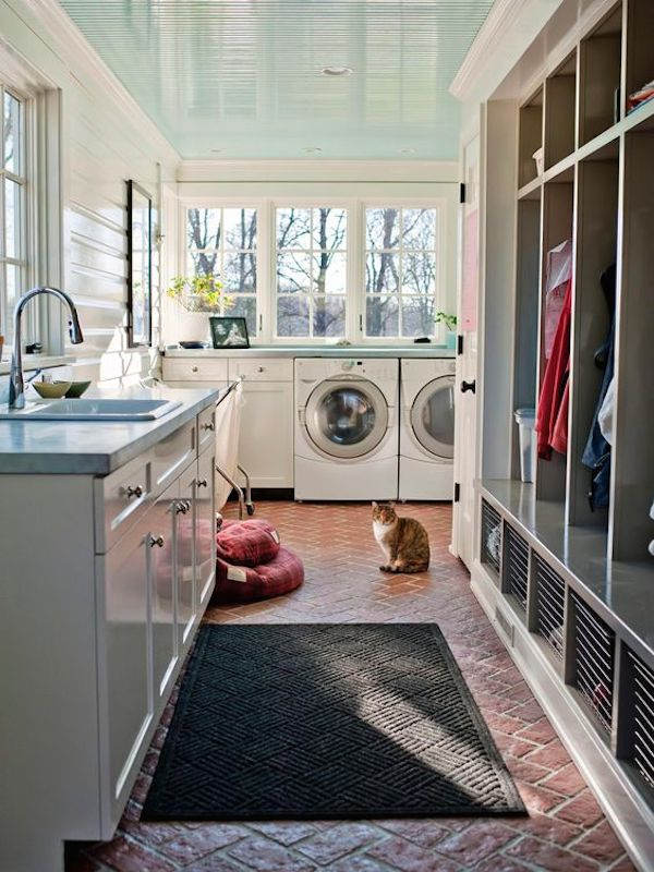Laundry Room Mudroom Combination - Emily Fisher of Rock Paper Hammer