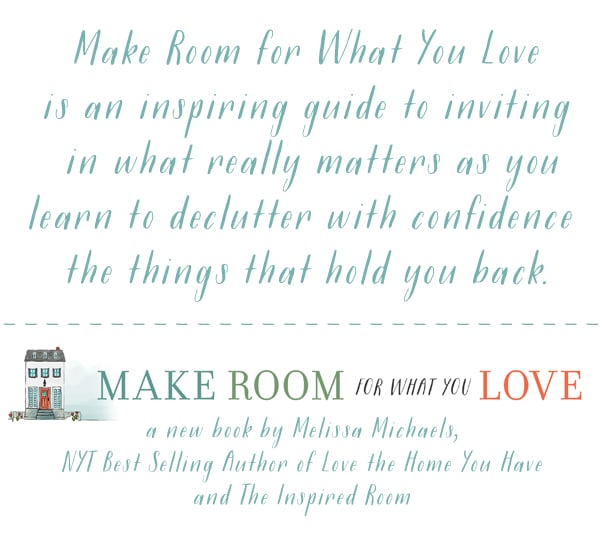 Habits for an Organized Home {My New Book: Make Room for What You Love!}