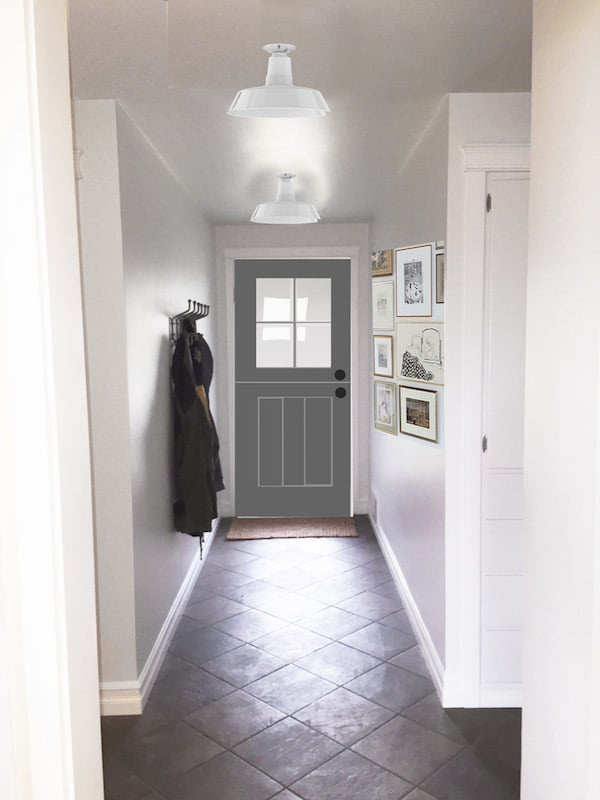 The Inspired Room Entry Photoshop Mockup - Gray Dutch Door