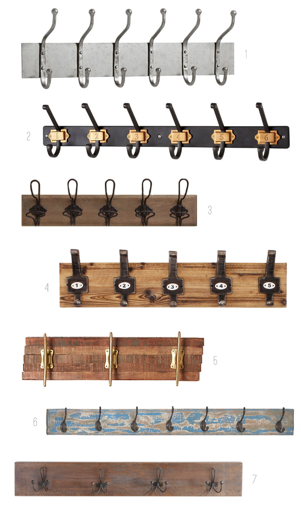 Wall Hooks - Wood and Metal - The Inspired Room