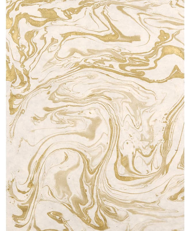 Gold and White Marbleized Paper - Easy and Inexpensive DIY Artwork