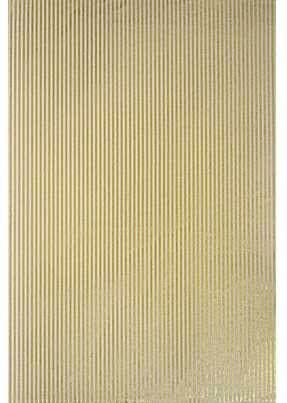 Gold and White Striped Paper - Easy and Inexpensive DIY Artwork