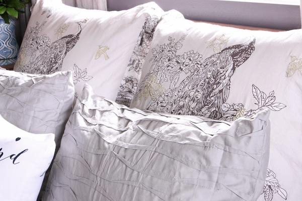 Master Bedroom Sneak Peek! {Black Frosted Plum Walls}