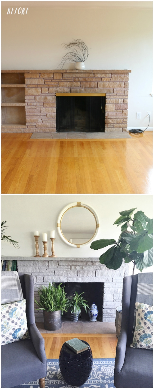 after lovely fireplace make photos makeover tutorial stone life amazing with before airstone and