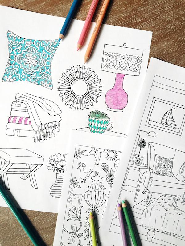 Home Decor Coloring Book - The Inspired Room