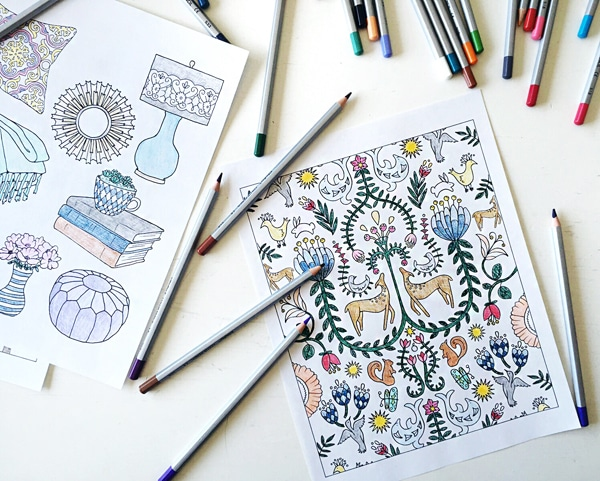 Home Decor Coloring Book