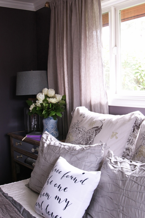 Master Bedroom Sneak Peek Black Frosted Plum Walls