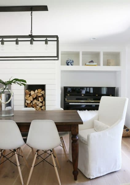 Studio McGee Farm Table and Restoration Hardware Parsons Chairs