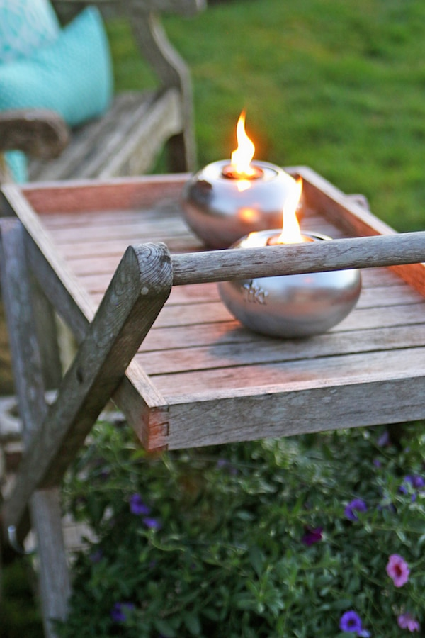 Tabletop Tiki Torches - The Inspired Room Backyard