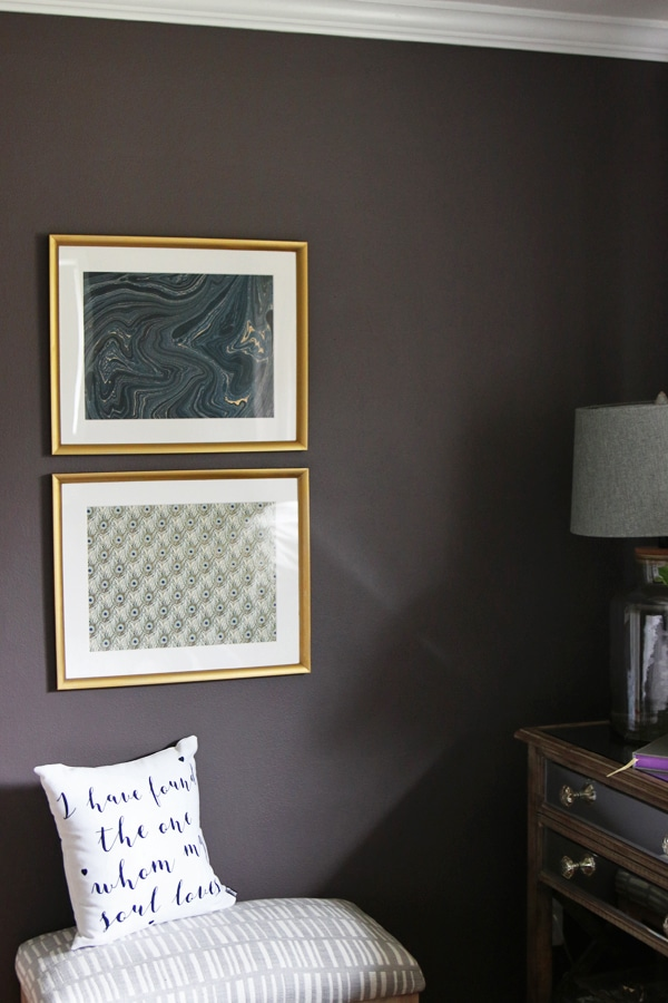 The Inspired Room Bedroom - Easy and Inexpensive DIY Art