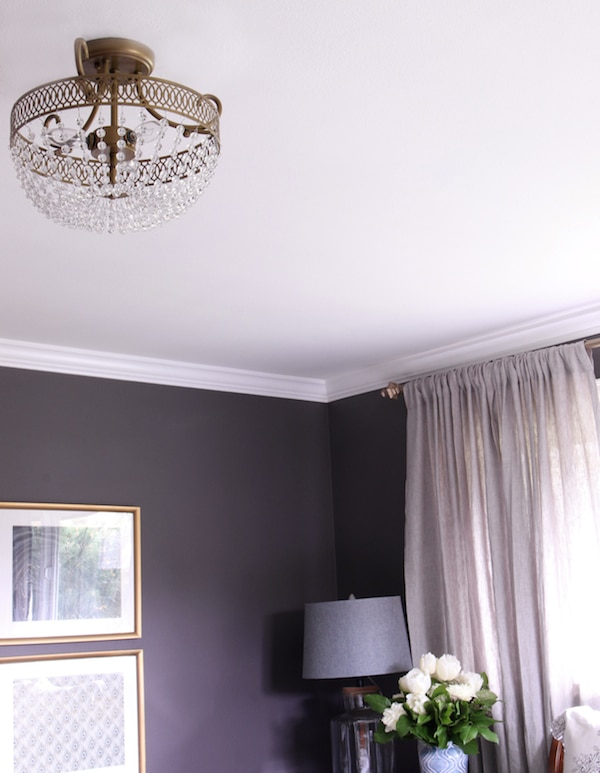 astonishing plum bedroom walls | Master Bedroom Sneak Peek! {Black Frosted Plum Walls ...