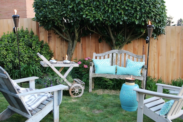 The Inspired Room Outdoor Area - Tiki Torches