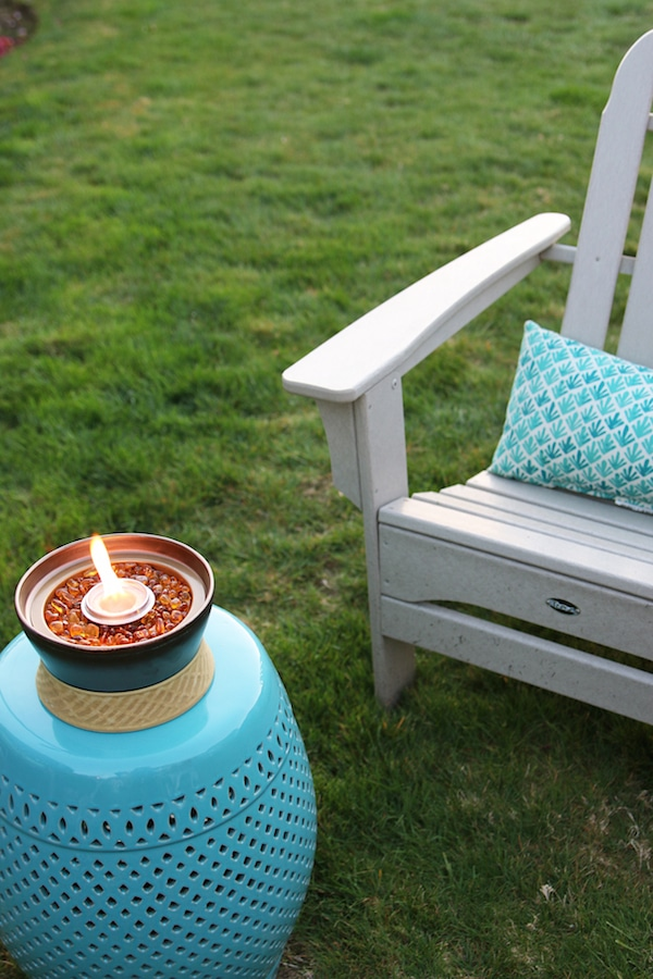 The Inspired Room Outdoor Space - Tabletop Tiki Torch