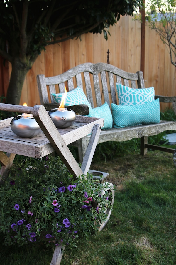 The Inspired Room Outdoor Space - Tabletop Tiki Torches