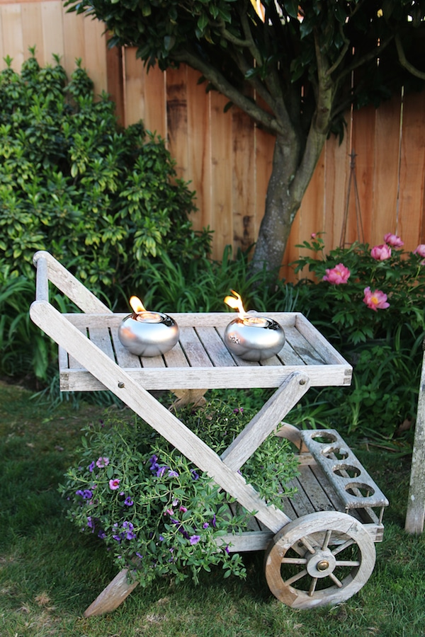 The Inspired Room Outdoor Space - Teak Bar Cart