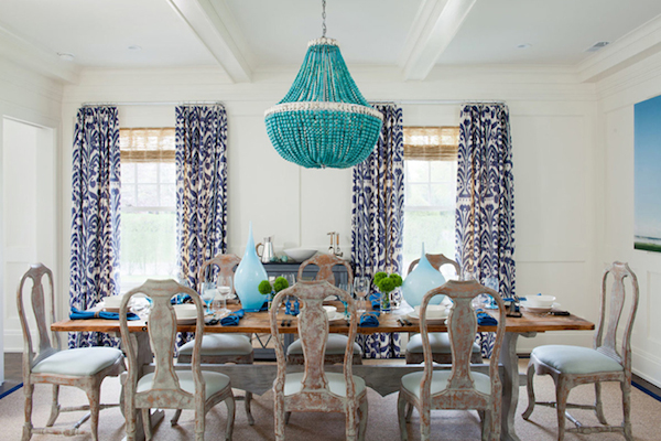 Turquoise Statement Beaded Light - Amanda Nisbet Design