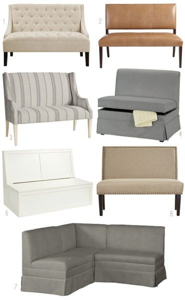 Upholstered Dining Banquettes - Dining Benches
