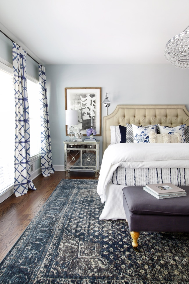 blue and white bedroom rug the hunted
