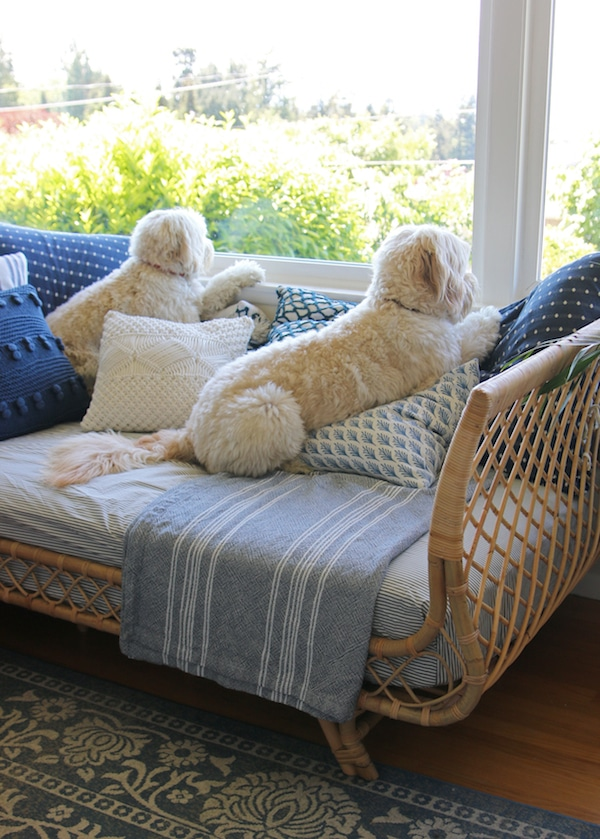 Our Rattan Daybed Cozy Corner With A View The Inspired