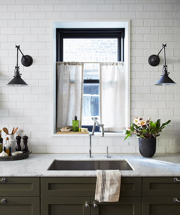 Kitchen Design with Wall Sconces - Photo by Michael Graydon - Design by Mandy Milks and Mazen El-Abdallah