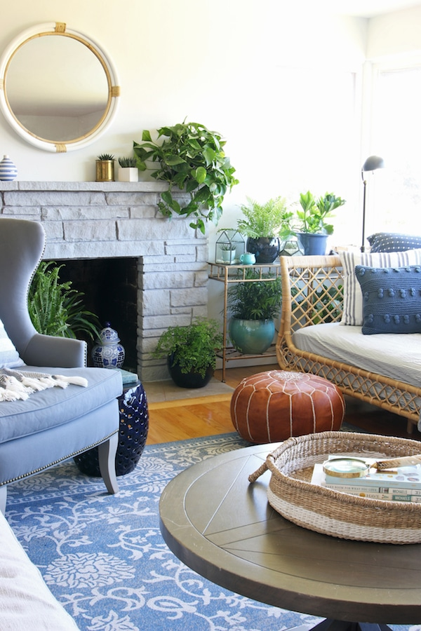 Our Rattan Daybed {Cozy Corner with a View} - The Inspired Room