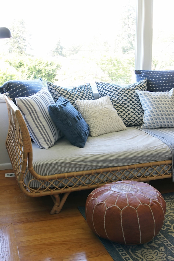 our rattan daybed cozy corner with a view the inspired room. Black Bedroom Furniture Sets. Home Design Ideas
