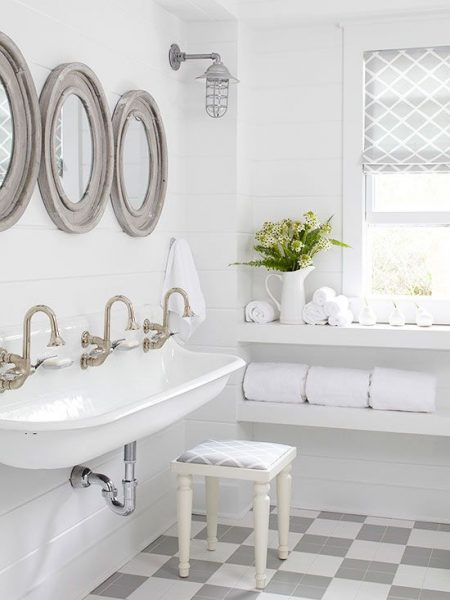 Shiplap Bathroom Kohler Brockway Sinks