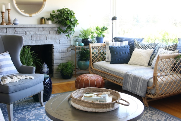 Our Rattan Daybed Cozy Corner With A View