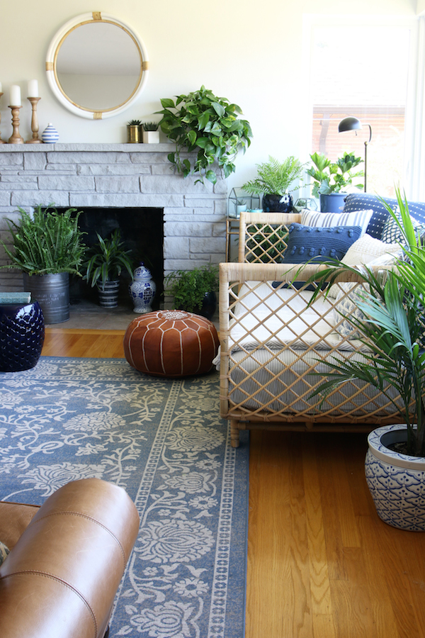 {Inspired By} Blue Patterned Statement Rugs
