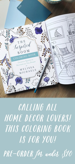 A new coloring book for the home - Interior Decor Coloring Book for Adults - The Inspired Room Coloring Book