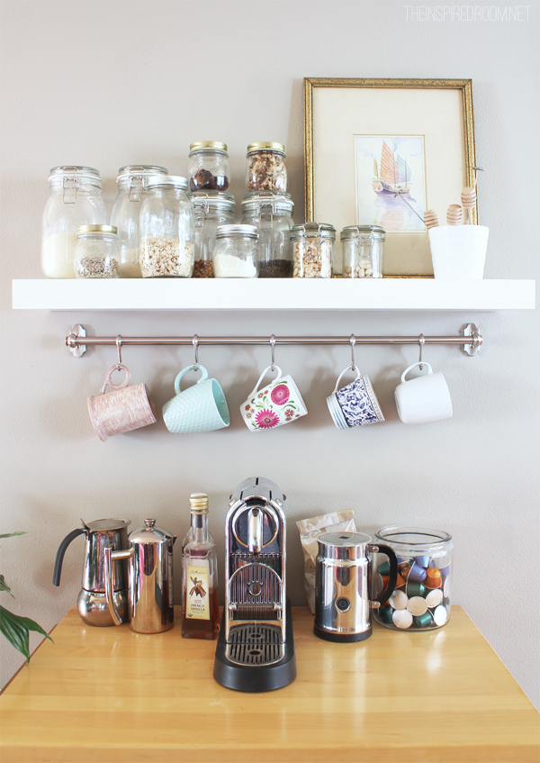 Mug Rack Kitchen Coffee Station The Inspired Room