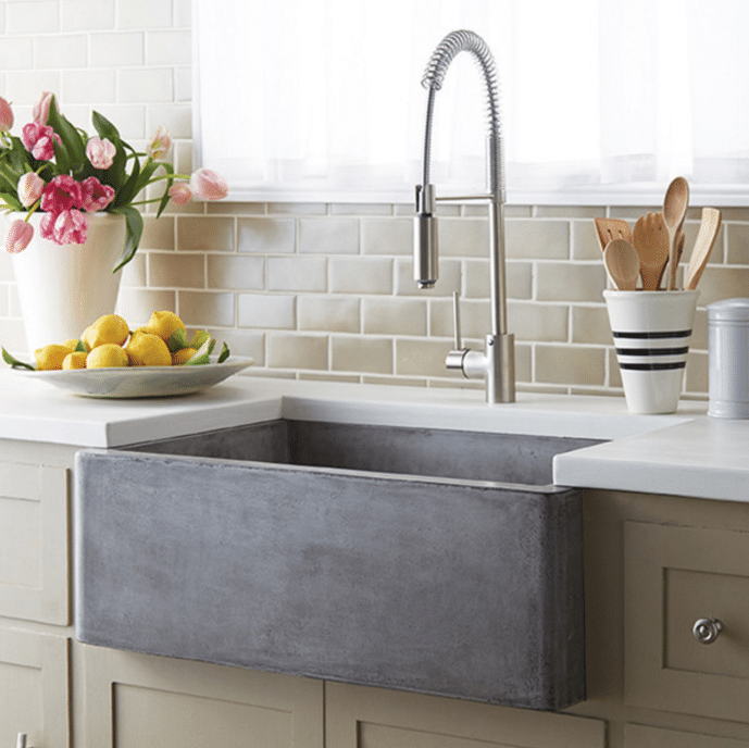 good Farmhouse Sinks For Kitchens #3: Farmhouse Stone Kitchen Sink - Source is linked in the post with a round up  of