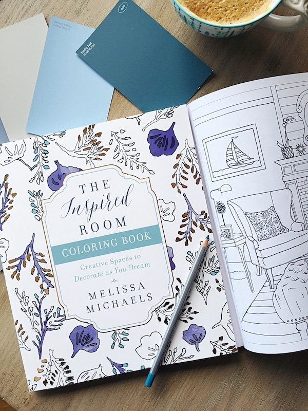 Home Decorating Adult Coloring Book - The Inspired Room