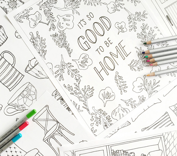 Home Decorating Adult Coloring Book - by The Inspired Room