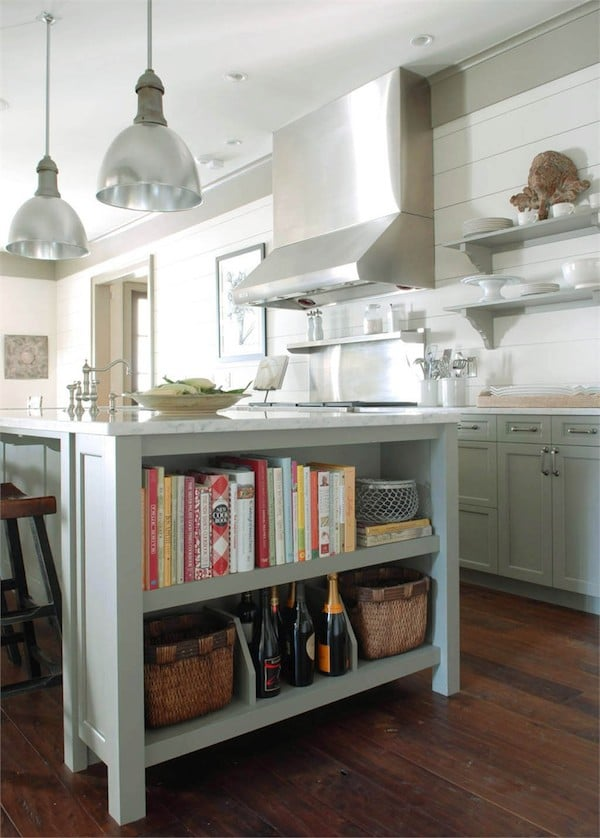 Kitchen Island With Open Shelves Part - 15: Kitchen Open Shelving: The Best Inspiration U0026 Tips!