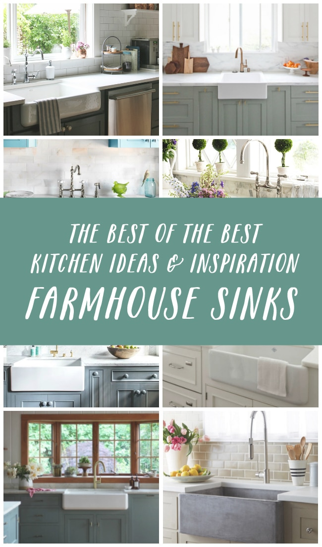 Click through for sources for beautiful Farmhouse Sinks - Apron-Front Sinks and lots of inspiration photos!