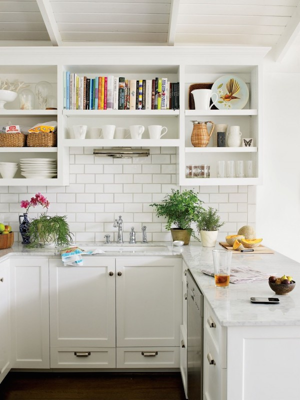 nice Kitchen Design Open Shelves #4: Kitchen open shelves add charm and character to a kitchen. Click through  for other ways