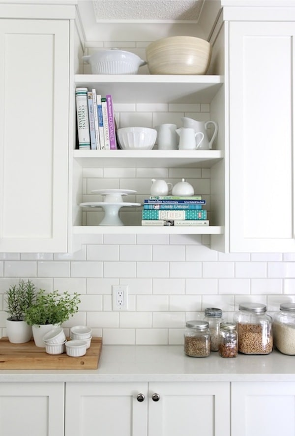 superior Kitchen Cabinets With Open Shelves #5: Kitchen open shelves add charm and character to a kitchen. Click through  for other ways