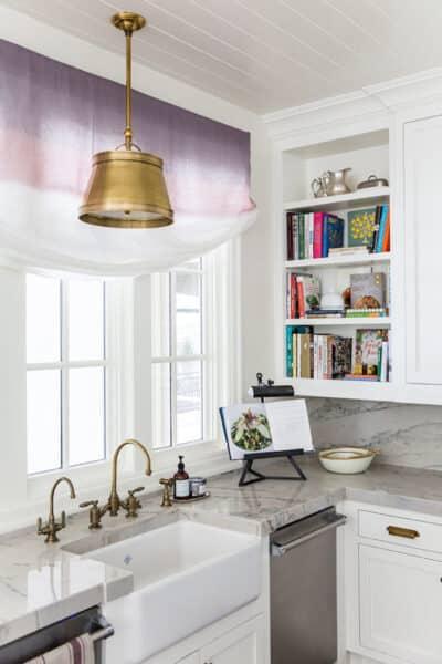 Kitchen Open Shelving - Cookbook Shelves - Ivory Lane