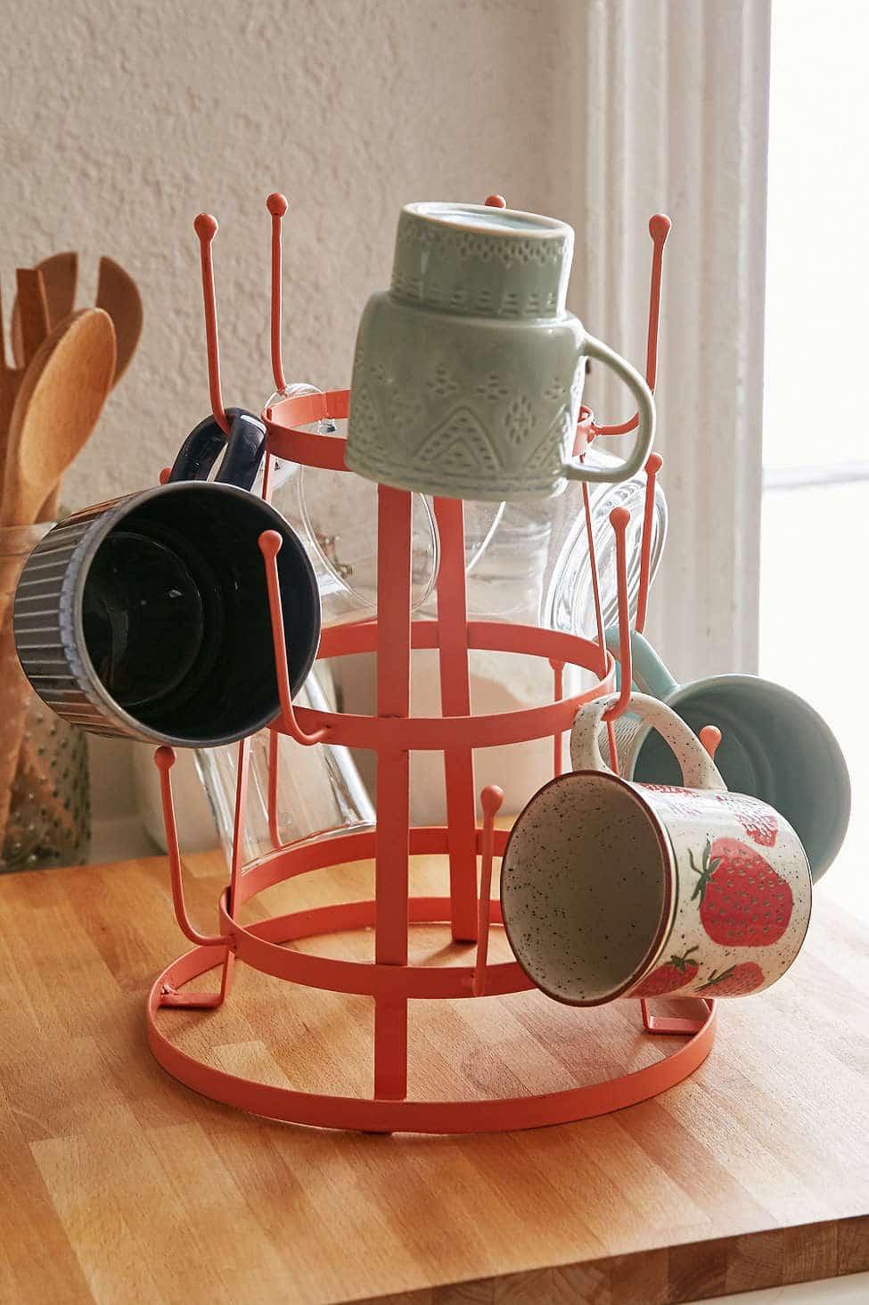 Mug Rack: Kitchen Coffee Station