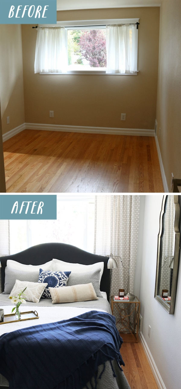 Small bedroom makeover before after the inspired room Tiny room makeover