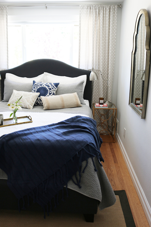 Small bedroom makeover before after the inspired room for Bedroom makeover inspiration