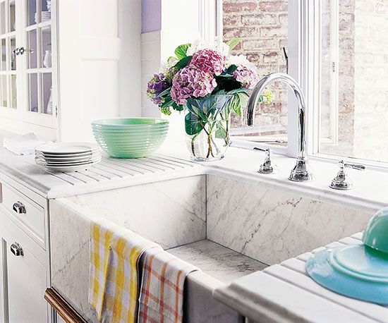Farm Sink Kitchen | Farmhouse Sinks Kitchen Inspiration The Inspired Room