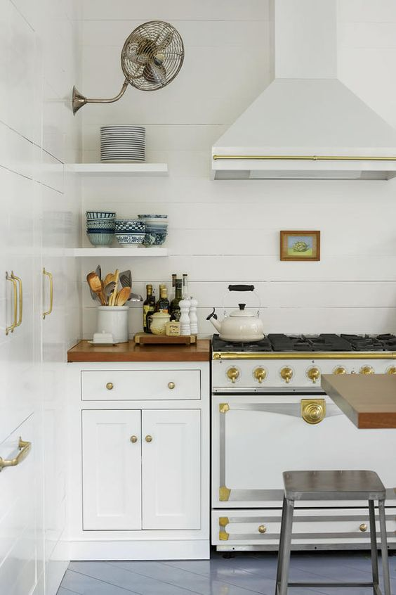 kitchen ideas White Kitchen with Shiplap - Click through for 8 showstopping elements for a kitchen design!