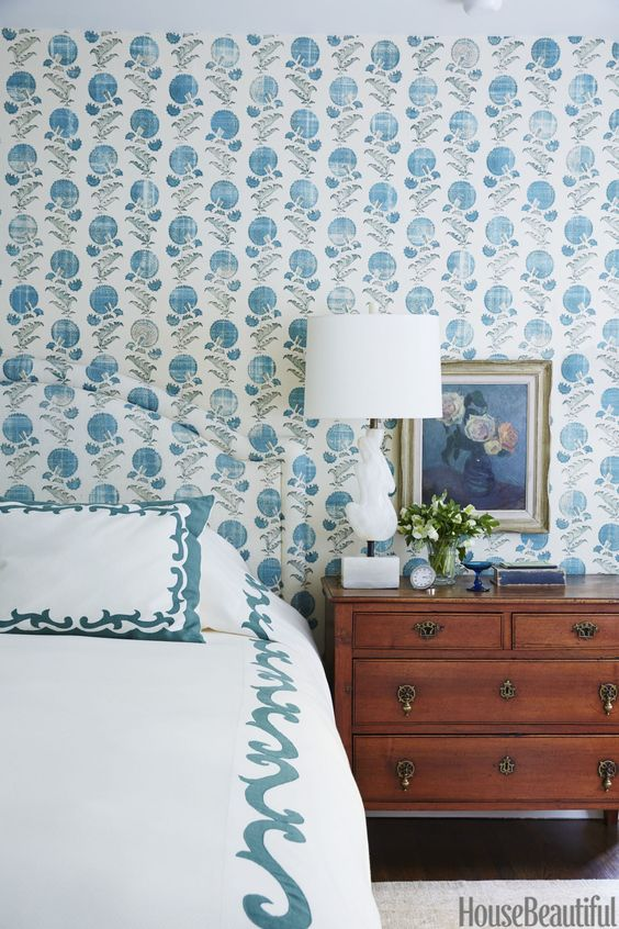 Beautiful bedroom wallpaper ideas the inspired room - Blue bedroom wallpaper ideas ...
