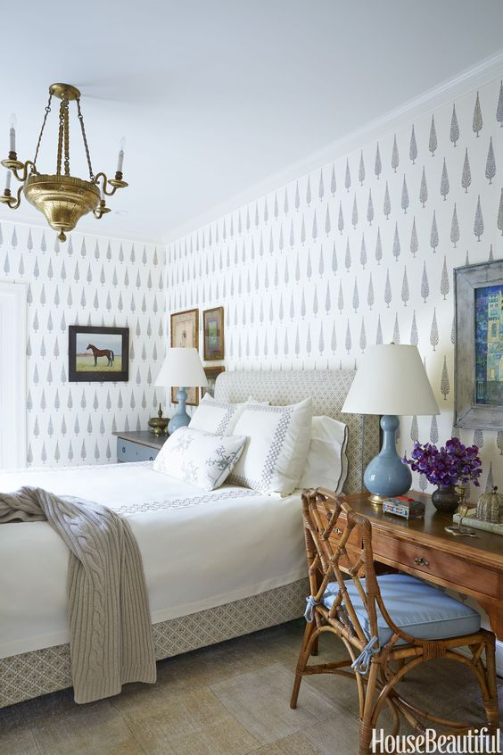 Beautiful bedroom wallpaper ideas the inspired room - Wallpaper ideas for bedroom ...