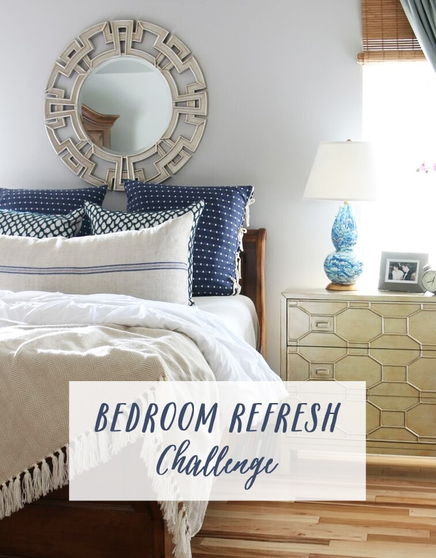 Bedroom Refresh Challenge - The Inspired Room
