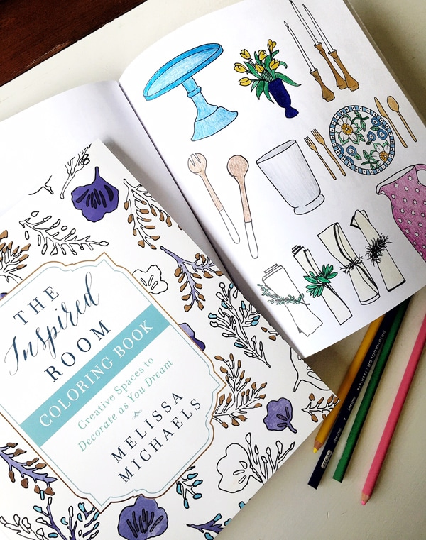 interior design coloring book the inspired room - Books On Home Design
