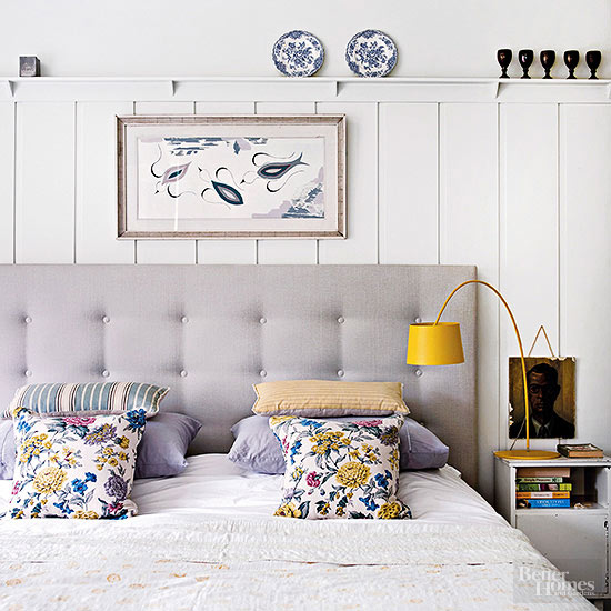 9 ways to decorate above a bed the inspired room - Above the headboard decorating ...