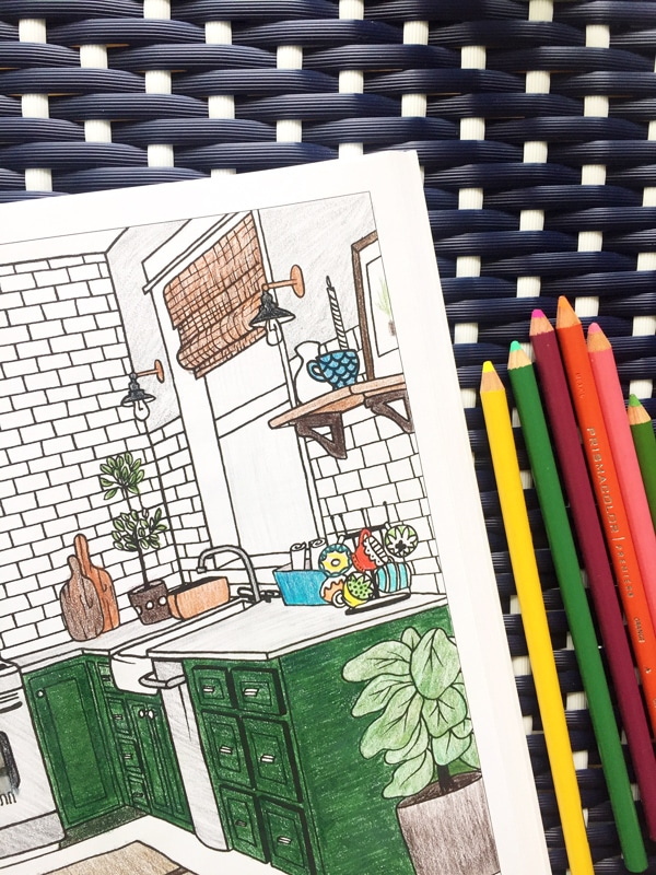 Interior design coloring book the inspired room the for Interior design and decoration textbook